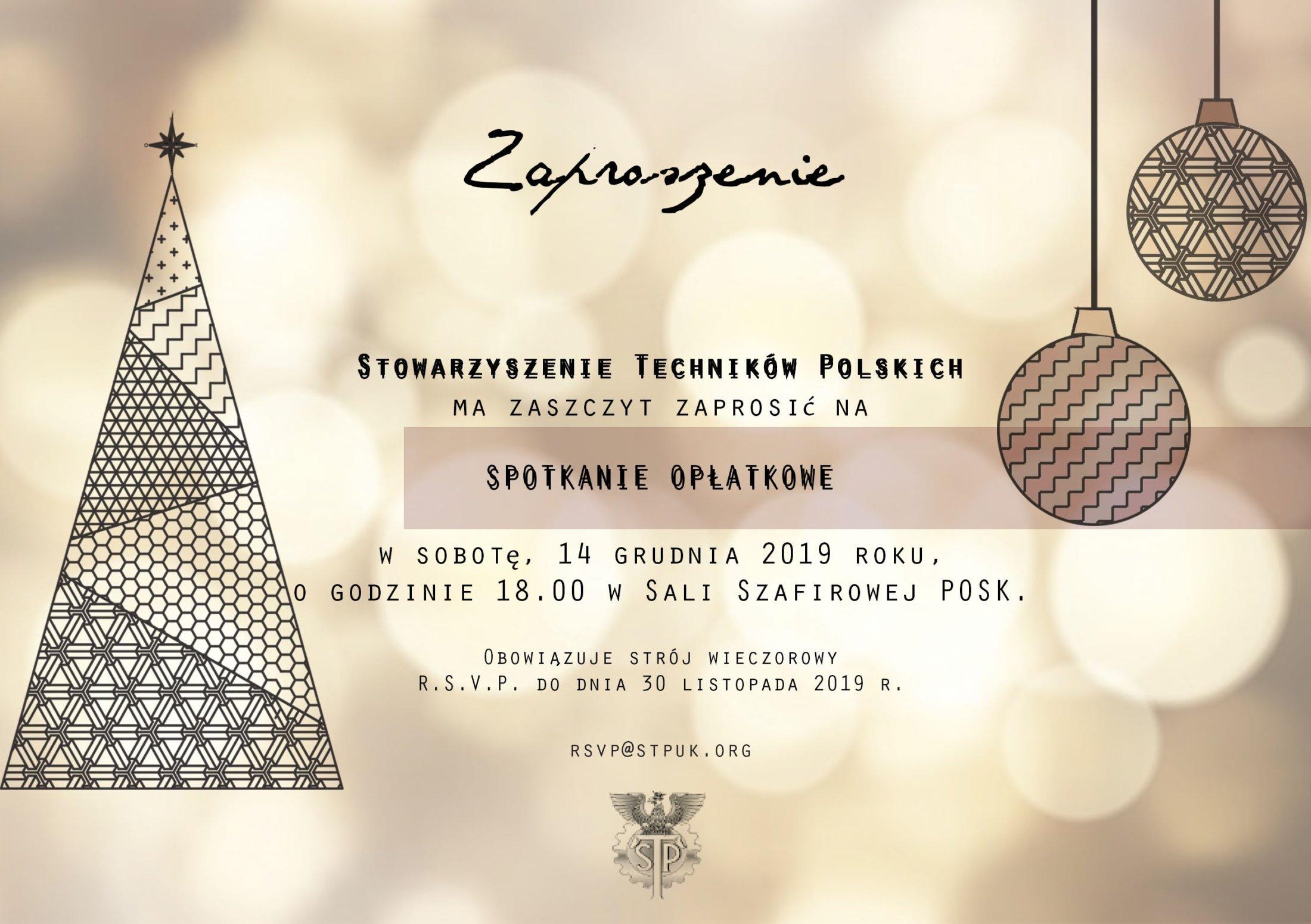STP OPLATEK 2019 Zaproszenie