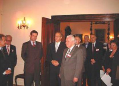 Spotkanie w Ambasadzie RP w Londynie, w którym wzięli udział wszyscy goście zaproszeni na inaugurację EFPSTN.