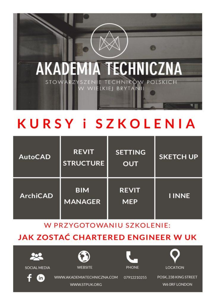 Kursy AutocCAD i Revit Structure po polsku w Londynie.